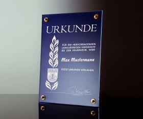Kristall-Urkunde 40x30 cm inkl. Textgravur