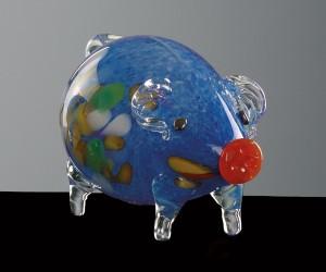 Blaues Sparschwein