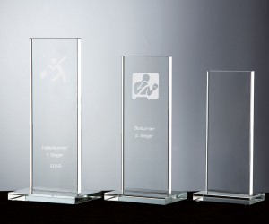 Flachglaspokal aus hochwertig weißem Kristallglas
