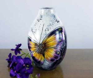 Schmetterling Keramikvase