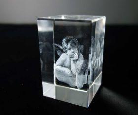 3D-Laserwürfel Engel