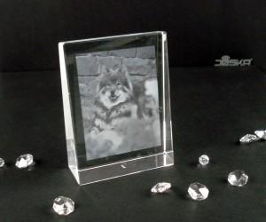 2D-Lasergravur Kristallblock 8 x 10,5 x 3cm