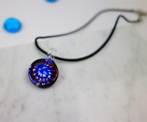 Kinder Halskette rund blau