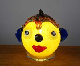 Dekoleuchte gelbes Clowngesicht