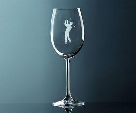 Rotwein Glas Golf Herren