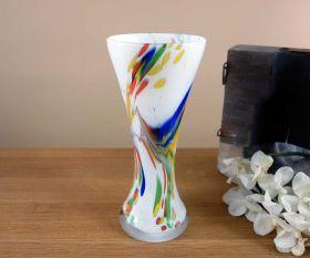 Vase weiß Weizen