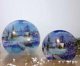 Wintermärchen Teelichthalter rund