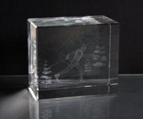 3D-Laserwürfel Langlauf