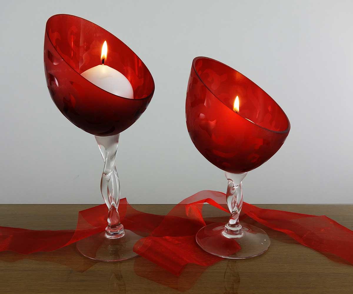 Kerzenleuchter kerzen joska glasparadies