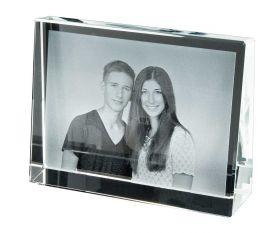2D-Lasergravur Kristallblock Quer 8 x 10,5 cm