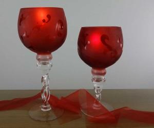 rot satinierter Leuchter