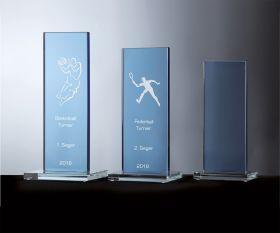 Farbglas Pokalserie Blau