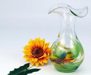 Green Garden Vase Wellenrend