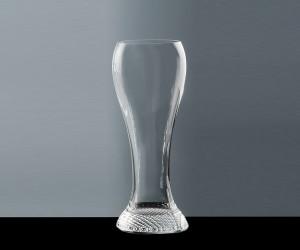 Weißbierglas mit Karoboden 0,5 l