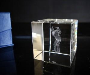 3D-Laserwürfel GOLFER 5cm