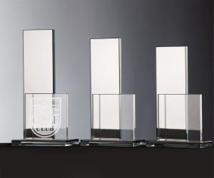 Verspiegelter Flachglaspokal