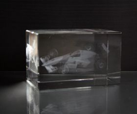 3D-Laserwürfel Formel 1 - Auto