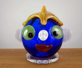 Dekoleuchte blaues Clowngesicht