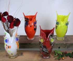 Eulen Vase 25 cm gerade Form