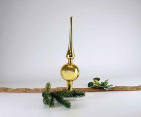 Christbaumspitze 28 cm Inkagold glanz