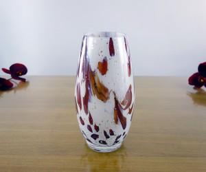 Vase bauchig Glimmer Rot
