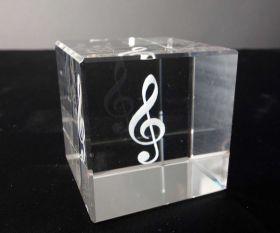 3D-Laserwürfel Notenschlüssel