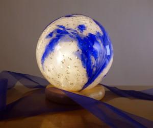 Deko-Leuchte blau / weiß