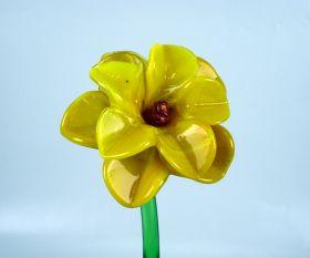Glasblume gelb