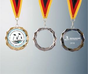 Medaille mit Facettschliff