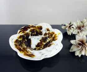 Schale Blume in Glimmer Braun