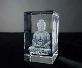 3D-Laserwürfel Buddha