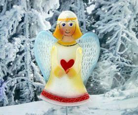 Fusing-Engel aus Kristallglas