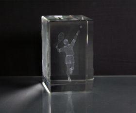 3D-Laserwürfel Tennis männlich
