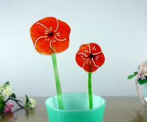 Orange Fusing-Blume