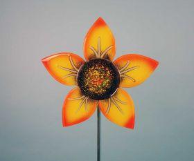 Fusingglas Gartenstab Sonnenblume