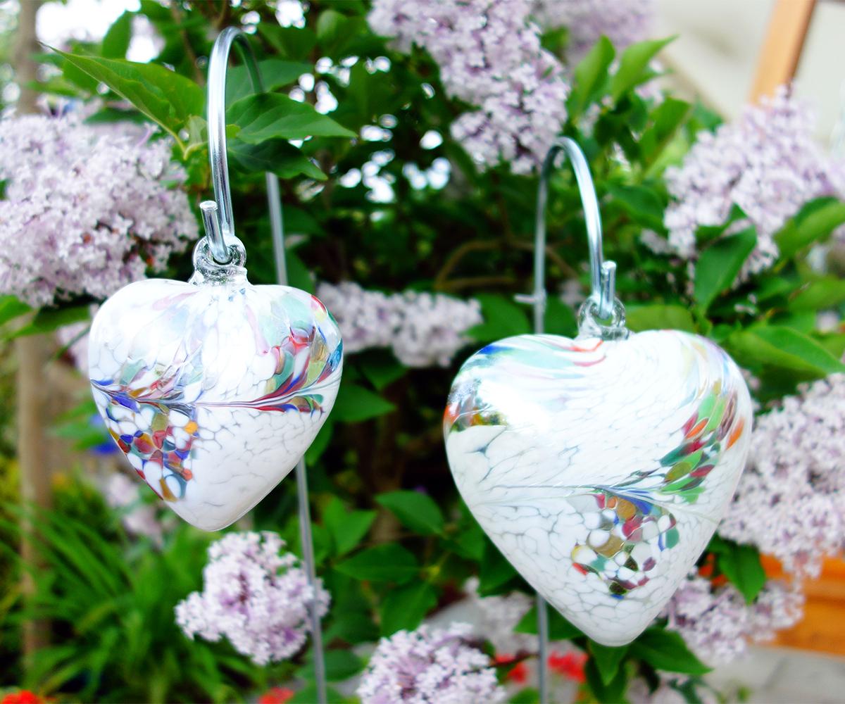 Glasherz in wei als geschenkidee oder gartendeko joska - Glas gartendeko ...