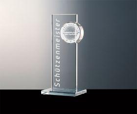 Pokal mit Kristallglas-Puck