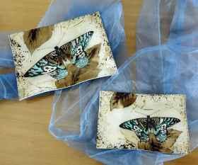 Fusingschale rechteckig mit Schmetterling