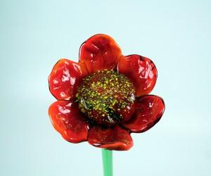 Rote Glasblume