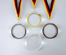 Medaille aus Kristallglas 9 cm