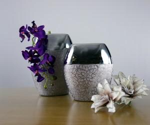 Silberne Keramik Vasen