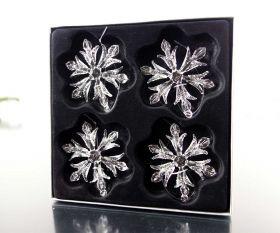 Schneeflocken 4er-Set 7,5cm