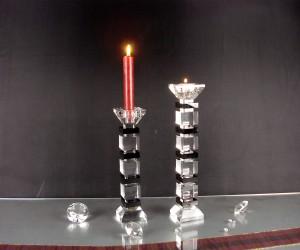 Kristallglasleuchter schwarz klar