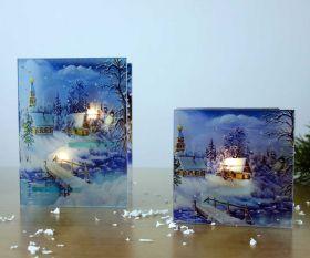 Wintermärchen Teelichthalter