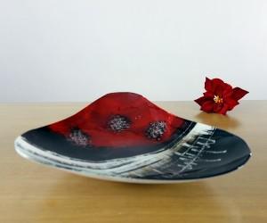 Fusingschale schwarz/rot dreieckig