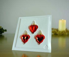 3 Herzen Rot Baumschmuck