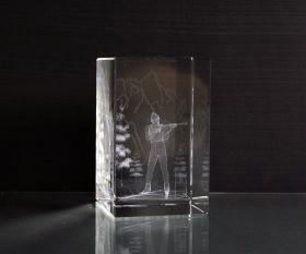 3D-Laserwürfel Biathlon
