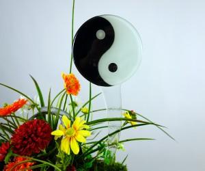 Yin Yang auf Glasstab