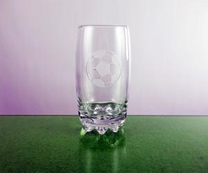Glas 0,4l mit Fußballgravur