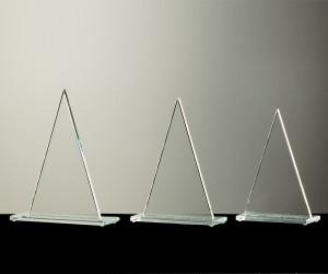 Flachglas Pokale Dreieck